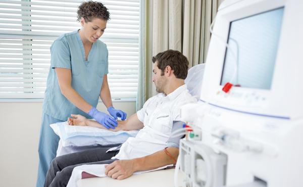 Enfermería en la unidad de diálisis